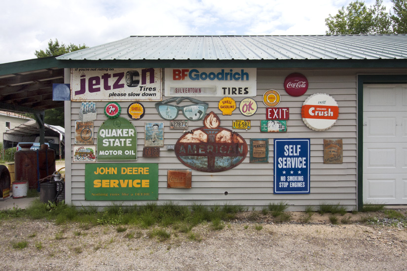 Garage Sign Collection, Oxford, Maine, 2013