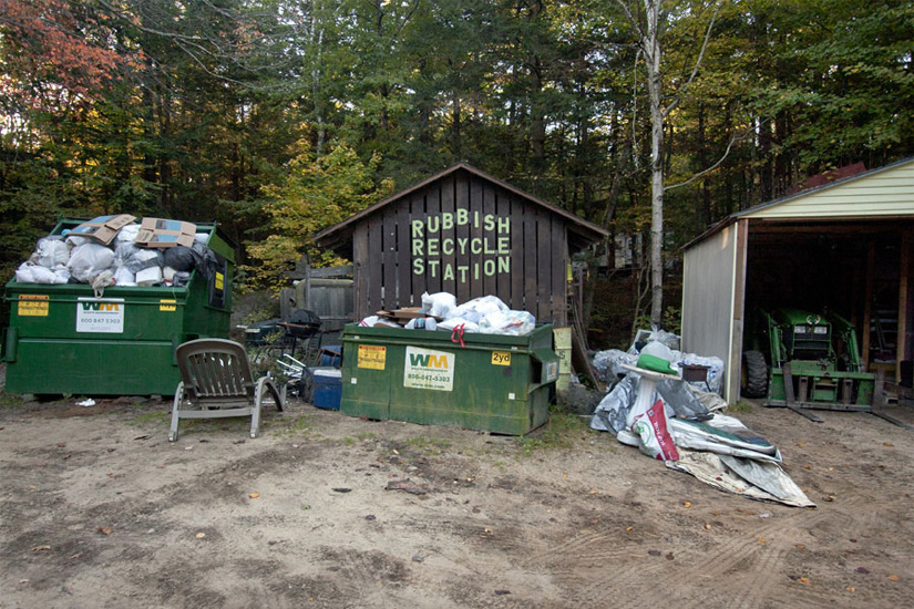 Rubbish Recycle Station, Two Lakes Campground, Oxford, ME, 2013